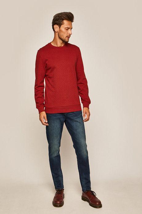 Bluza męska z okrągłym dekoltem czerwona