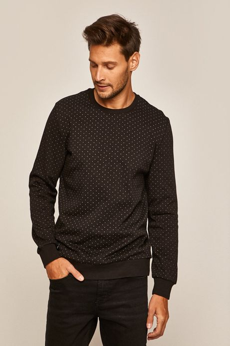 Bluza męska z okrągłym dekoltem czarna