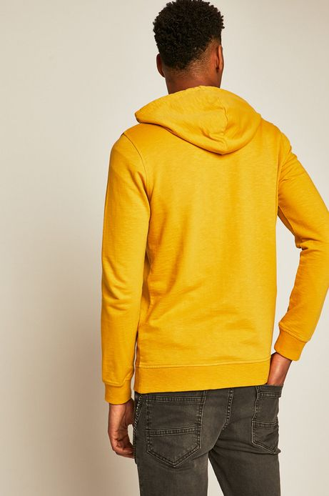 Bluza męska z kapturem żółta