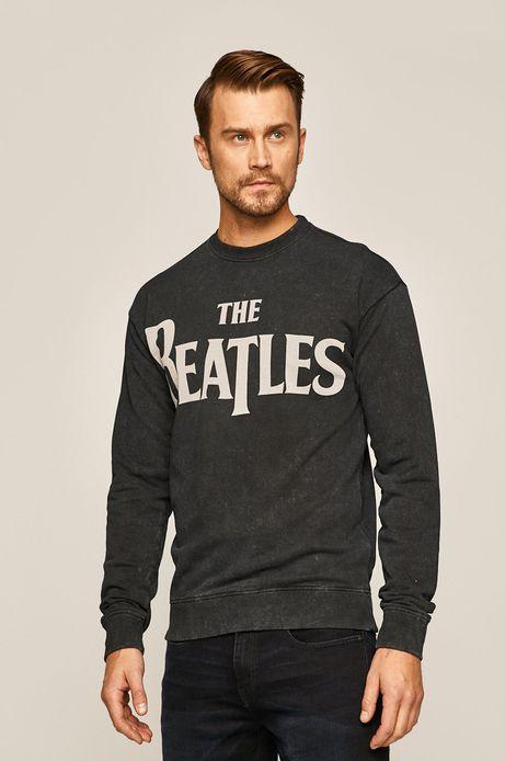 Bluza męska z nadrukiem Music Wall szara