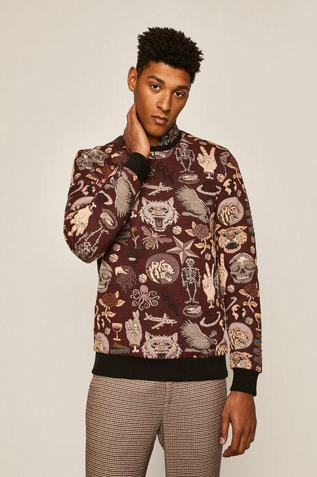 Bluza męska wzorzysta bordowa