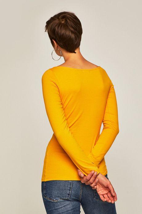Longsleeve damski żółty