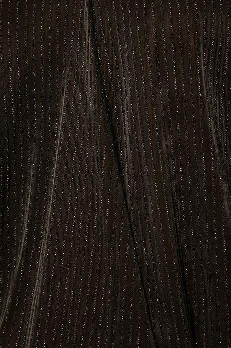 Body damskie z kopertowym dekoltem czarne