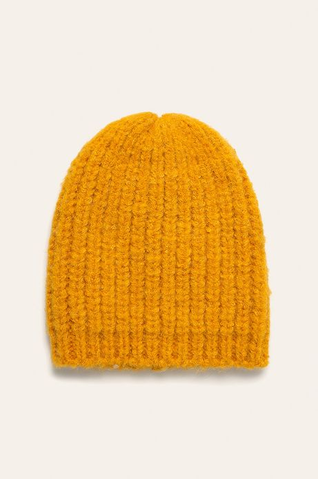 Czapka damska żółta