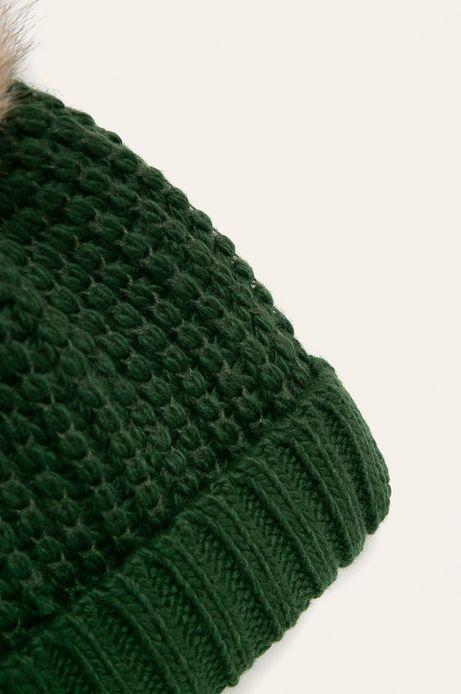 Czapka damska z pomponem zielona