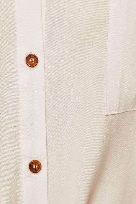 Koszula damska z obniżoną linią ramion biała