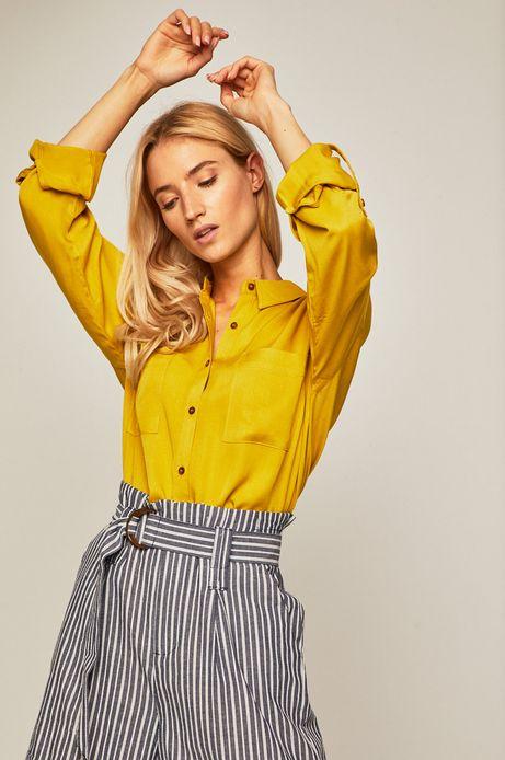 Koszula damska z obniżoną linią ramion żółta