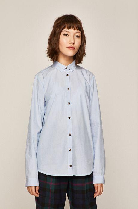 Koszula damska w paski niebieska