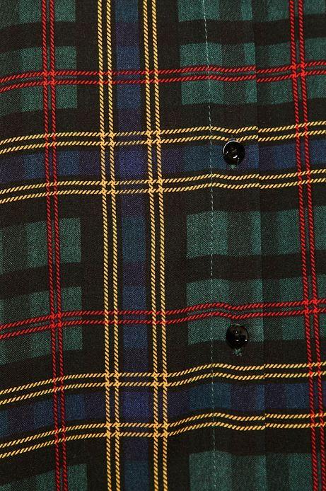 Koszula damska z wzorzystej tkaniny zielona