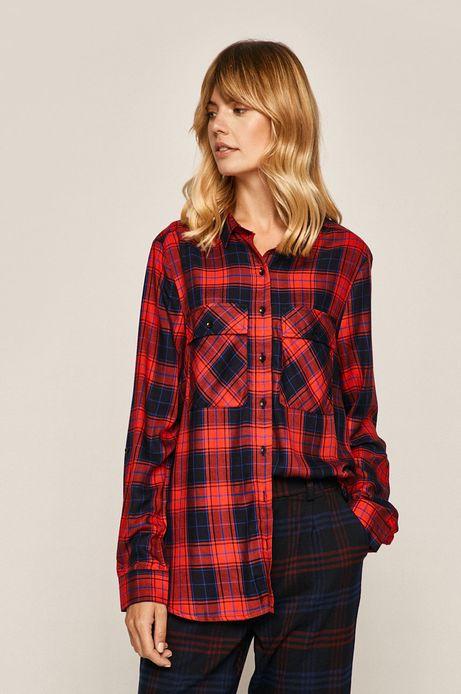 Koszula damska w kratkę czerwona