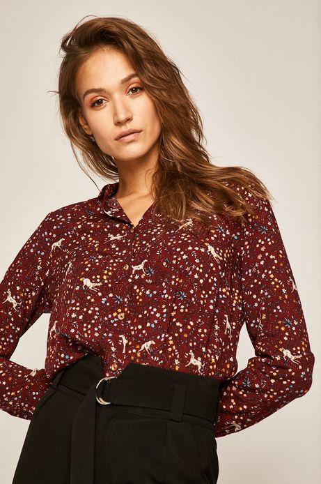 Koszula damska Basic bordowa