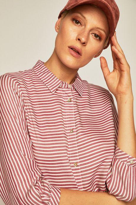 Koszula damska w paski czerwona