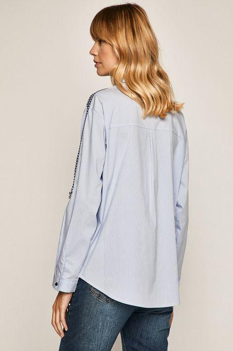 Koszula damska z lampasami niebieska