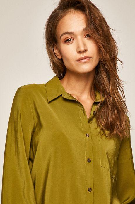 Koszula damska z kieszonką zielona