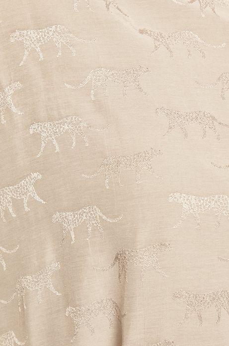 Koszula damska z nadrukiem w tygrysy biała
