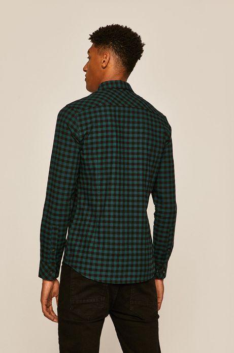 Koszula męska w kratkę turkusowa