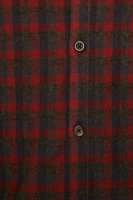 Koszula męska Basic bordowa