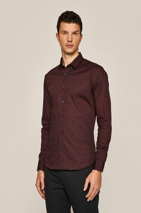 Koszula męska bordowa