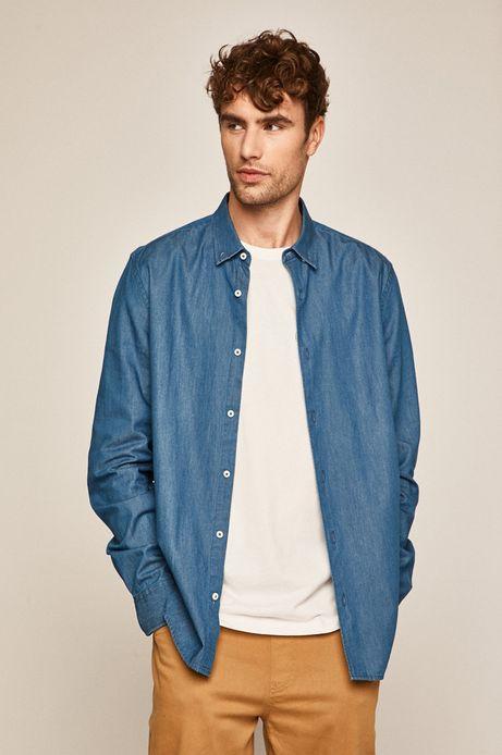 Koszula męska denimowa niebieska