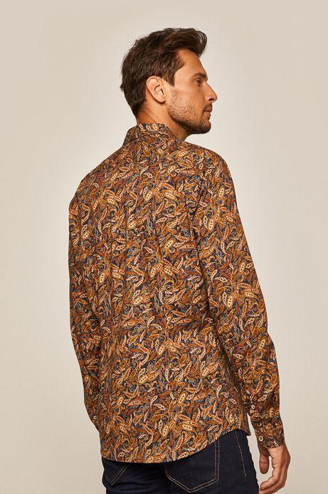 Koszula męska z wzorzystej taniny