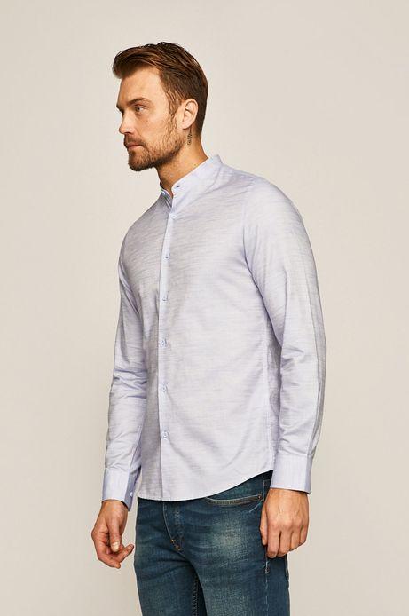 Koszula męska ze stójką niebieska