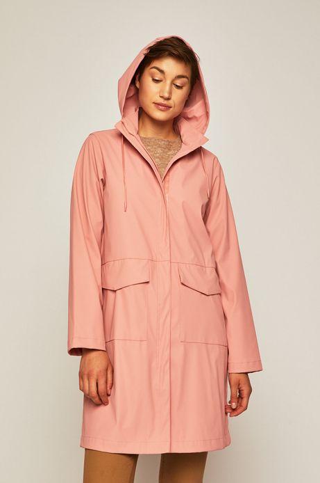 Płaszcz przeciwdeszczowy damski różowy