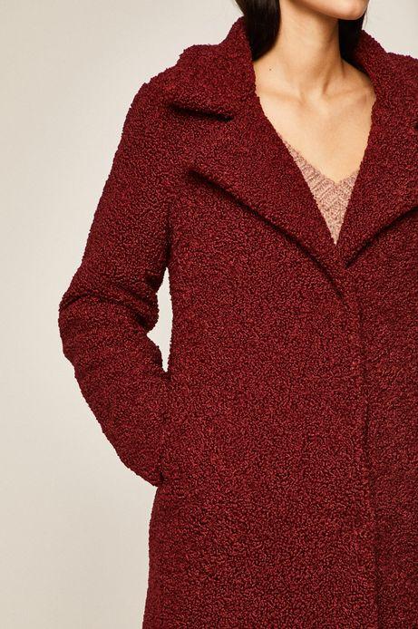 Płaszcz damski bordowy