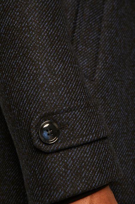 Płaszcz męski wełniany niebieski