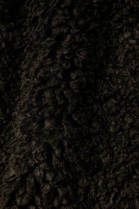 Kurtka damska z imitacji futra czarna