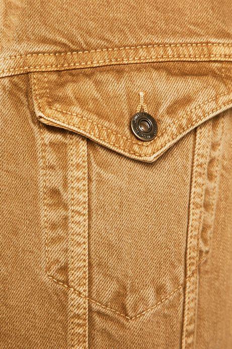 Kurtka męska jeansowa beżowa