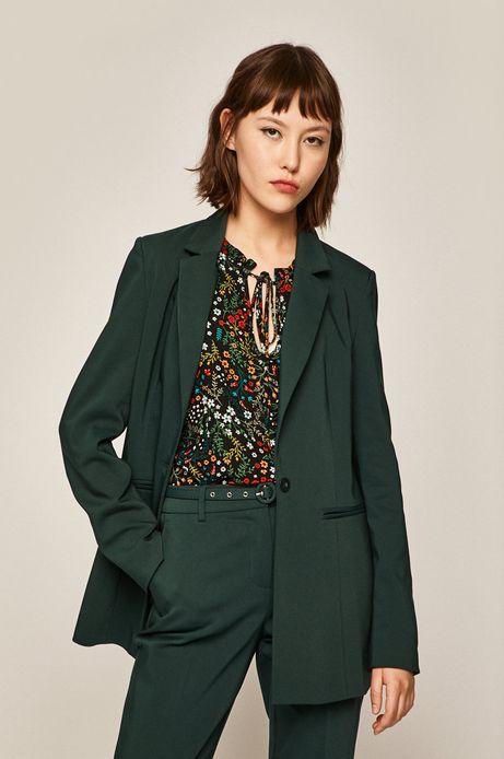 Żakiet damski o prostym kroju zielony