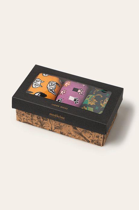 Skarpetki damskie wzorzyste (3-pack)