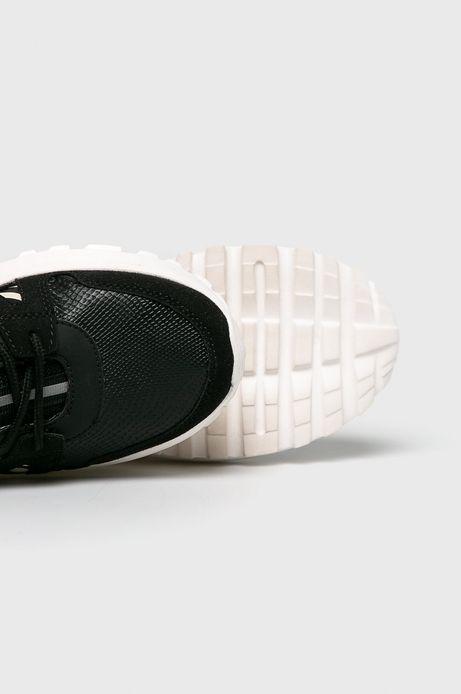 Buty damskie na wysokiej podeszwie czarne