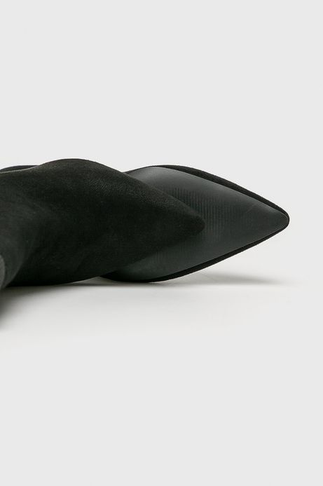 Botki damskie na szpilce czarne