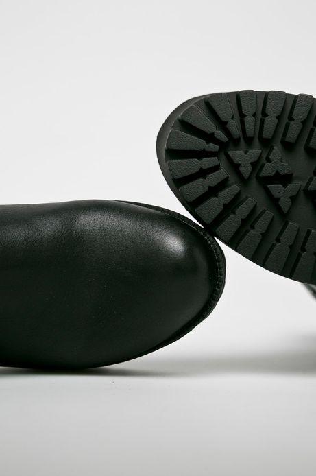 Botki damskie na platformie czarne