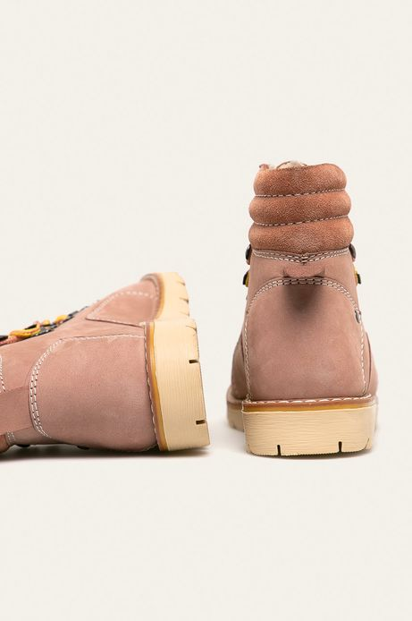Buty damskie skórzane różowe