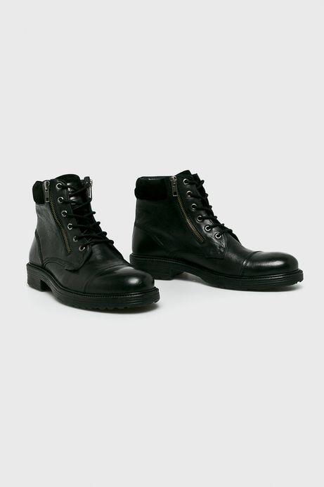 Buty męskie skórzane czarne