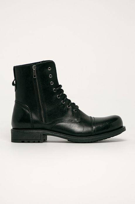 Buty skórzane męskie Urban Stories czarne