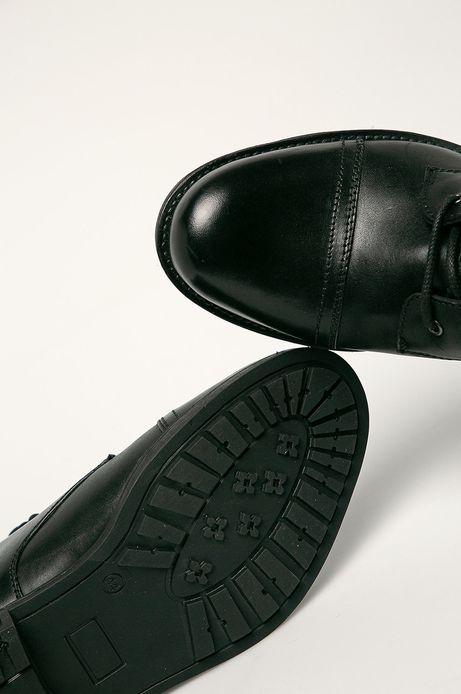 Buty skórzane męskie czarne