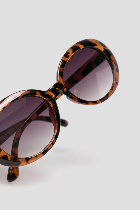 Okulary przeciwsłoneczne damskie w panterkę