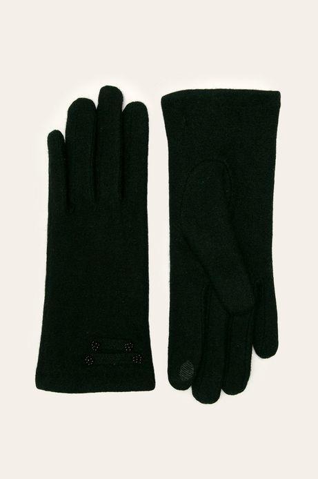 Rękawiczki damskie touch screen wełniane czarne