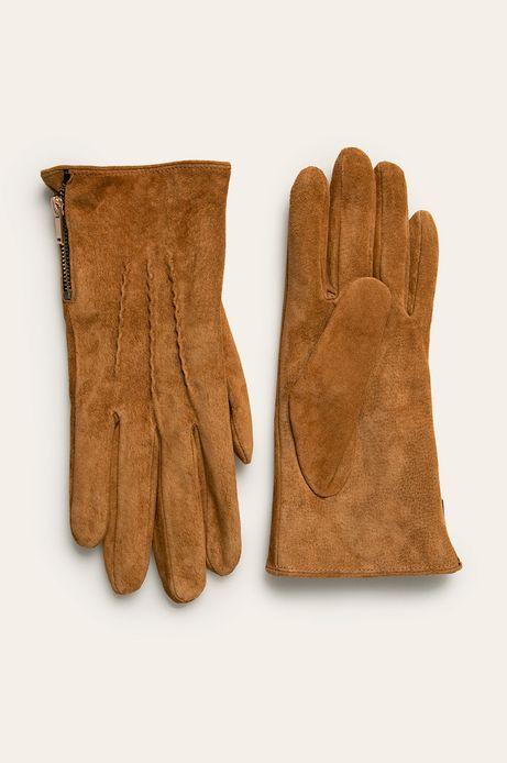 Rękawiczki skórzane brązowe