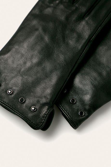 Rękawiczki damskie skórzane czarne