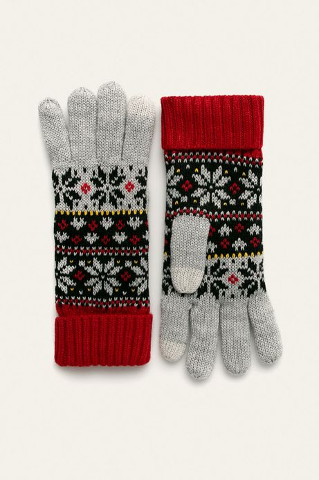 Rękawiczki damskie touch screen wzorzyste