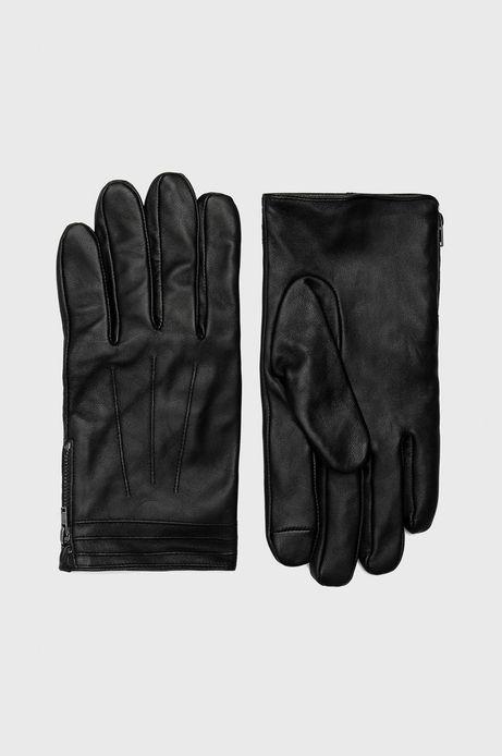Rękawiczki skórzane męskie Artisanatura czarne