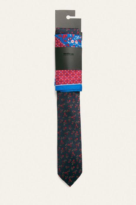 Zestaw krawat i poszetka