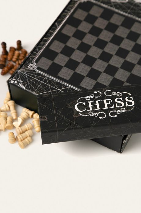 Zestaw do wina z szachami czarny