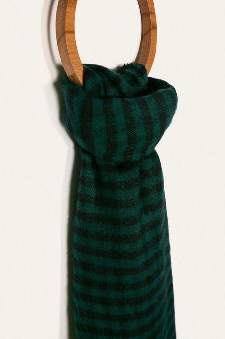 Szalik męski w kratkę zielony