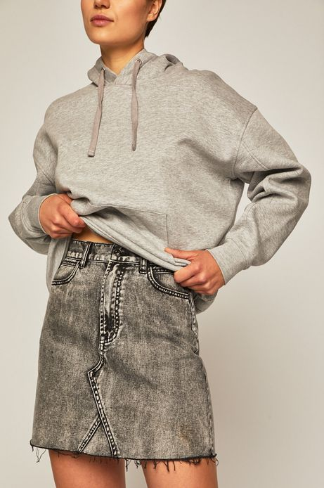 Spódnica jeansowa damska szara