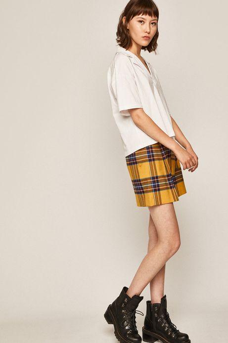 Spódnica damska w kratkę żółta